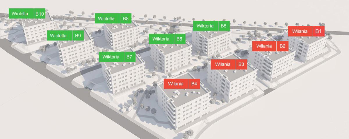 Budynki schemat